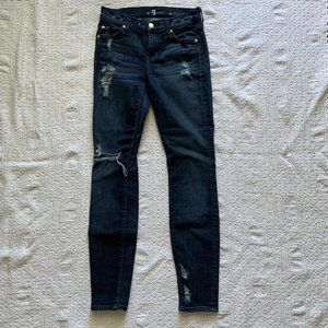 7 For All Mankind distressed The Skinny jeans 25
